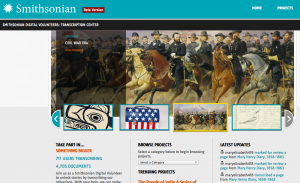 The Smithsonian Digital Volunteer website has more than 700 citizens working on more than 4,000... [+] pieces of history