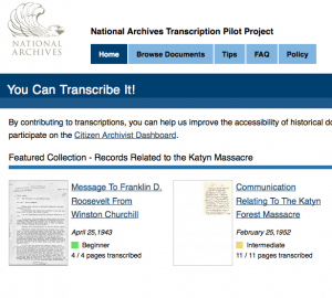 The National Archives has launched a website where you can help the organization record history.