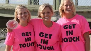 Get in Touch Foundation's founder, Mary Ann Wasil Nilan, and her daughters, Mary and Betsy. By Lisa... [+] De Tullio Russell