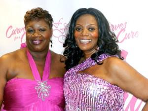 DeVoe, right, with Lucille O'Neal, author and mother of retired basketball player Shaquille O'Neal, at Curves for a Cure.