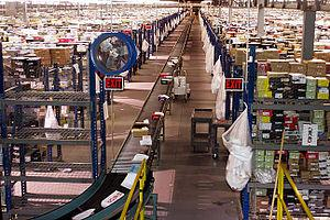 This is a picture of the Zappos fulfillment ce...