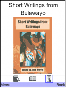 A screenshot of one of the books on offer through Worldreader Mobile