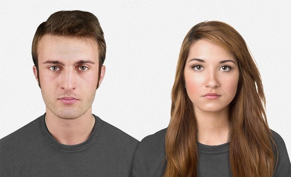 Today: A typical-looking man and woman. Image credit: Nickolay Lamm