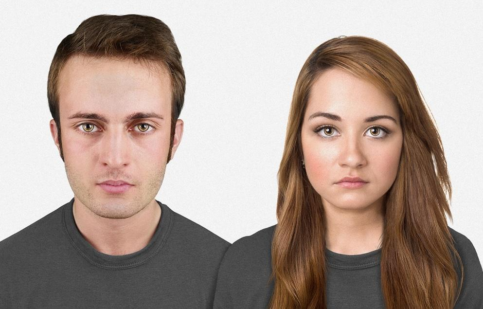 how the human face might look in 100 000 years