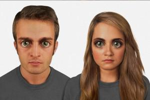 Designer Lamm's depiction of how the human face might look in 100,000 years; Image credit Nickolay... [+] Lamm