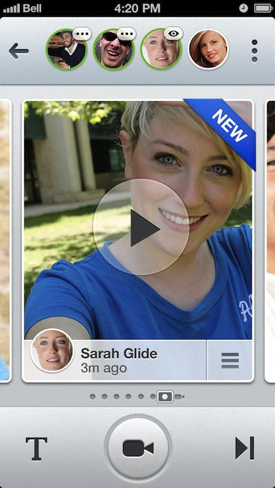 Promotional screenshot of Glide on iOS. Regular users don't look this good; Image via Glide