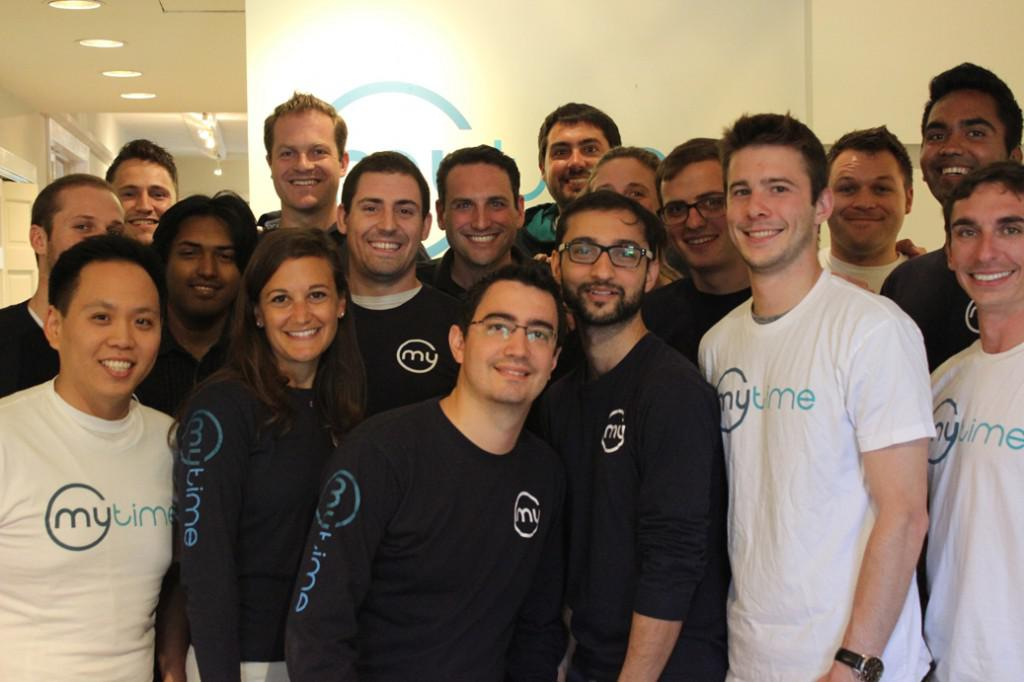 The staff at MyTime, based in San Francisco