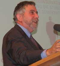 English: ″Paul Krugman lectured on ″...