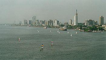 Lagos Island and part of Lagos Harbour, taken ...