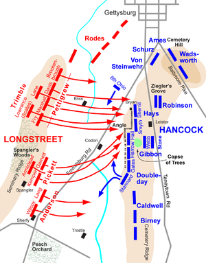 Image result for pickett's charge map