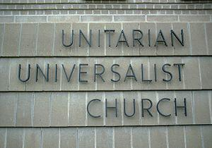 Sign on a UU church in the United States.