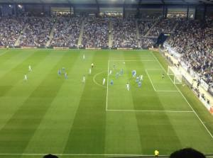 Sporting KC in First Half Action of their 2-0 Victory over Montreal Impact on March 30, 2013