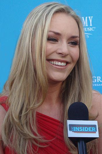 English: Lindsey Vonn at the 45th Annual Acade...