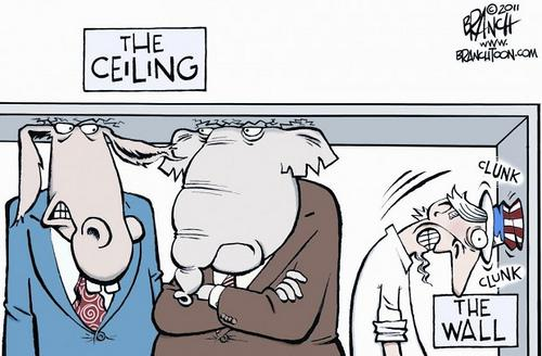Debt Ceiling Political Cartoon From the Rapid ...