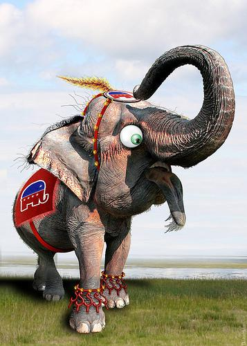 GOP Elephant - Caricature