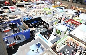 An overall view of the Computex Taipei, Asia's...