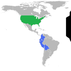 A map showing all members of the Andean Trade ...