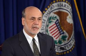 Federal Reserve Chairman Ben Bernanke speaks d...