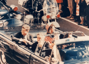 Picture of the JFK´s limousine in Dallas, TX. ...