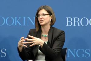 Rebecca Bagley speaks at Brookings