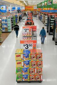 Walmart's ″Action Alley″ of store specials