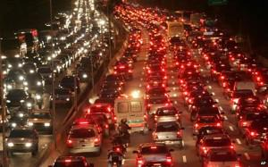 Traffic Jams in Sao Paulo (Photo by BBC)