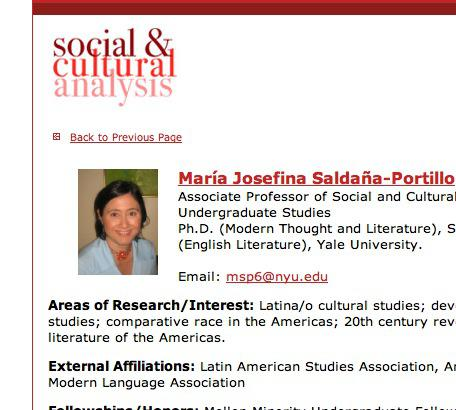 Maria Josefina Saldana-Portillo ASA NYU New York University national council