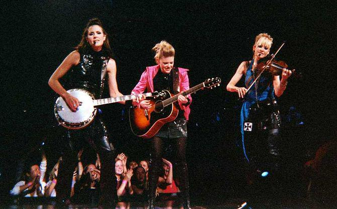English: Dixie Chicks in concert in Madison Sq...