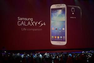 Samsung's Galaxy S4 is unveiled on March 14, 2...