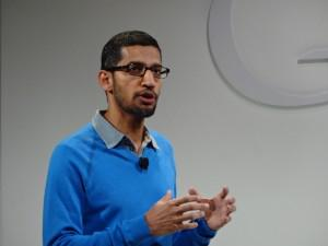 Sundar Pichai, Google senior VP of Chrome and Android, introduces new Nexus 7 tablet and Chromecast TV streaming device.