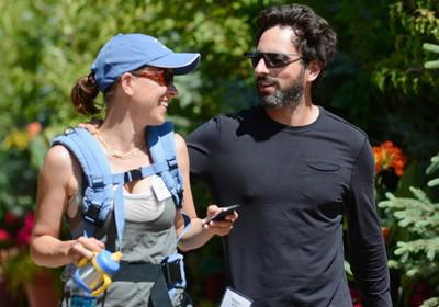 Sergey Brin and Anne Wojcicki in July 2012