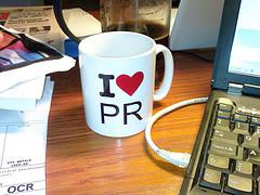 I love PR (public relations)