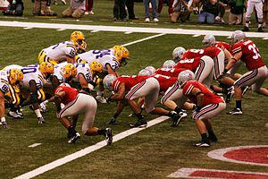 Ohio State lines up against LSU in the BCS Nat...