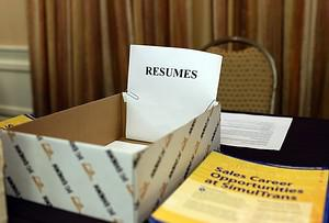 SAN MATEO, CA - JULY 16:  A box for job seeker...