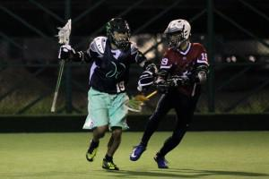Alibaba vice chairman Joe Tsai, left, enjoying a passion: lacrosse. (Photo credit: Alibaba Group)