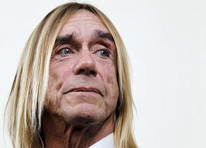 US singer Iggy Pop looks on during a press con...