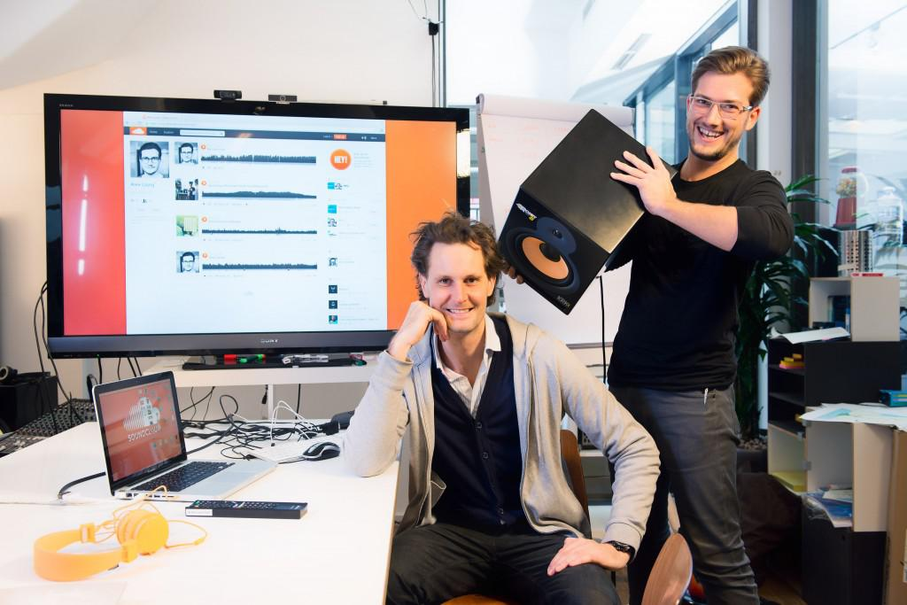 Turn up the volume: Eric Wahlforss (left) and Alexander Ljung have attracted 38 million users to SoundCloud. (Steffen Jänicke for Forbes)