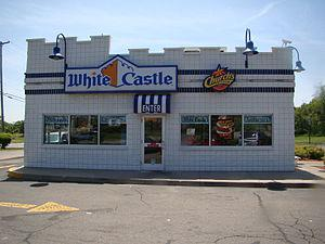 English: A White Castle restaurant on the outs...
