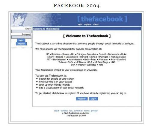 Original Facebook Homepage Image