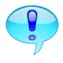 a light-blue speech bubble with a dark-blue ex...