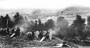 French battlefield, 1914. The guns of the Great War reverberate to this day.