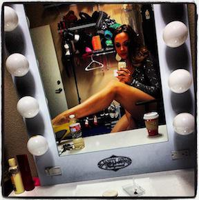 Adult performer Chanel Preston takes a selfie on the set of an adult movie. (Photo credit: Chanel Preston, Instagram)