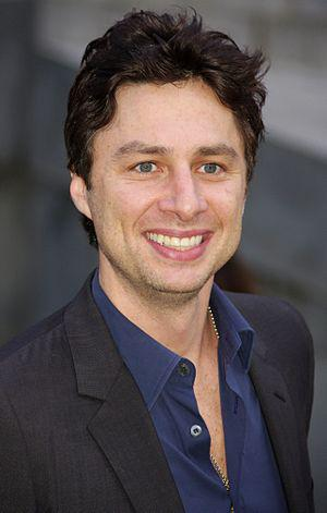 English: Zach Braff at the Vanity Fair party c...