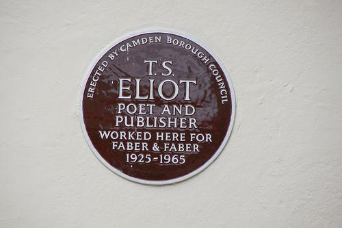 TS Eliot plaque