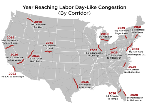 Labor Day Congestion Could Be The New Normal, A New Report Finds