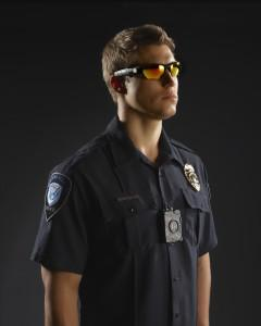 (Photo credit: Taser International) Photo showing the Taser International's AXON flex on-officer camera