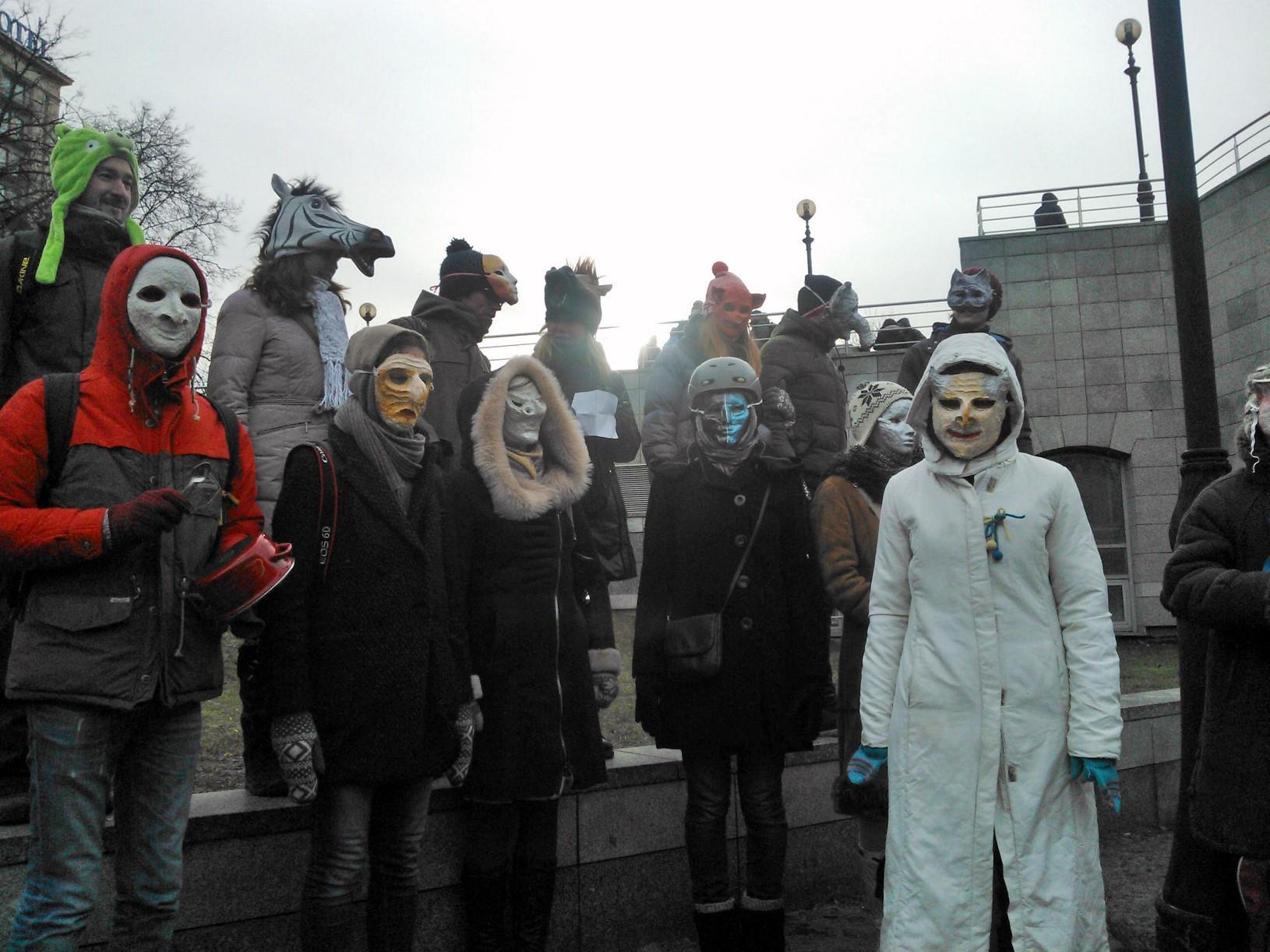 a3295e9c710 Ukraine s Protestors Get Creative to Continue Their Fight