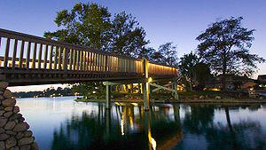 Bridge across North Lake, Woodbridge, Irvine, ...