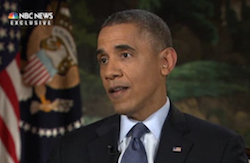 On November 7, 2013, President Obama sat down with NBC News' Chuck Todd to discuss problems with the... [+] rollout of Obamacare's health insurance exchanges. (Image courtesy NBC News.)