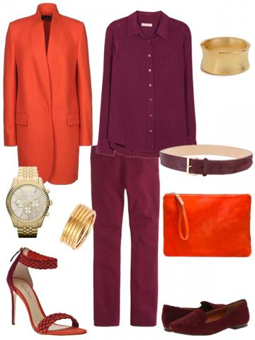 Unexpected Pairings: Orange And Burgundy